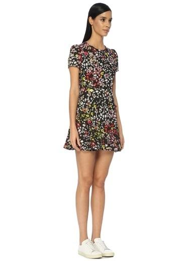 Çiçekli Mini Elbise-Academia